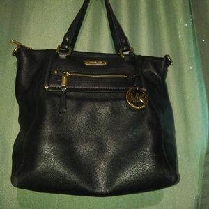 Michael Kors large black leather satchel